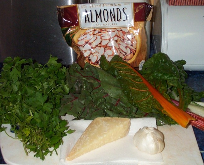 Parsley Pesto with Rainbow Chard - Ingredients