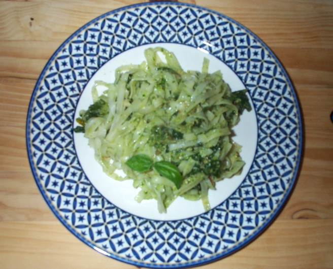 Parsley Pesto with Rainbow Chard