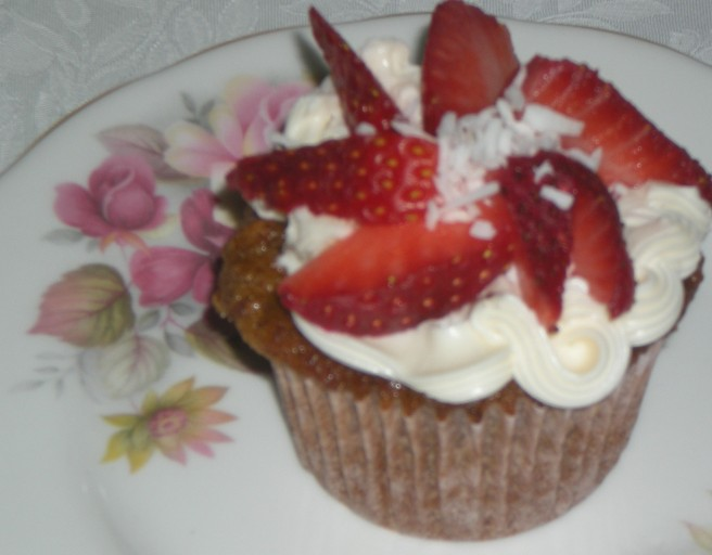 Valentine's Day Cupcakes - Strawberry Cupcakes