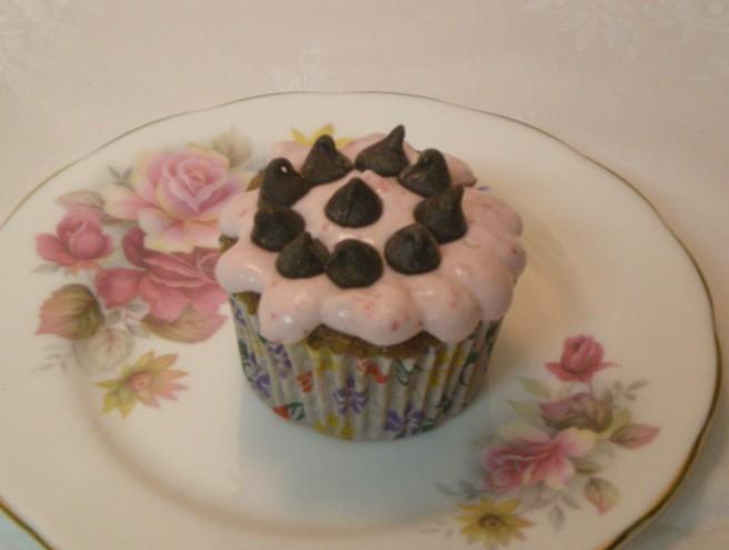 Valentine's Day Cupcakes - Chocolate-Strawberry Cupcake