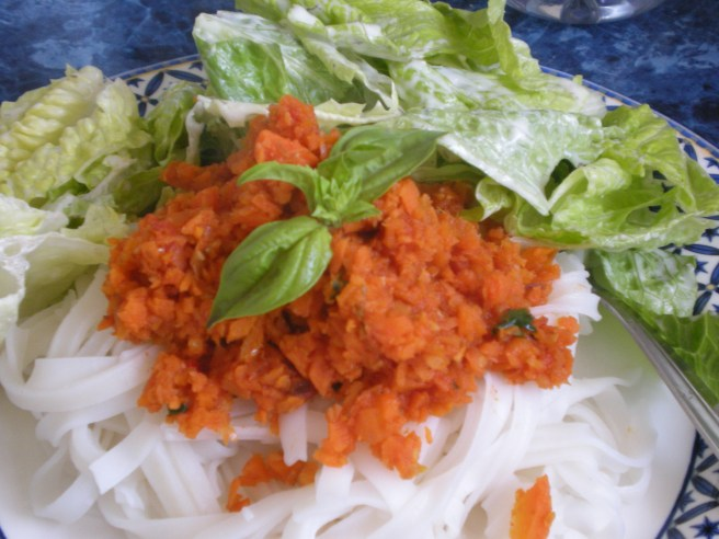 Carrot Pasta Sauce, copyright 2010, gfcelebration.com All rights reserved