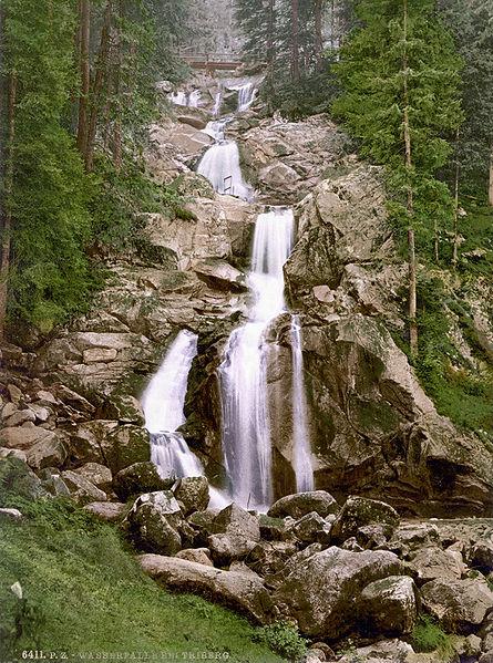 Black Forest Torte (Schwarzwaelder Kirschtorte) - Triberg waterfall