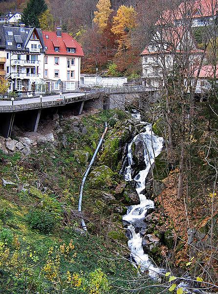 Black Forest Torte (Schwarzwaelder Kirschtorte) -Triberg Wasserfall