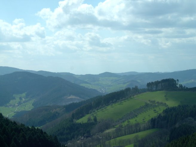 Black Forest Torte (Schwarzwaelder Kirschtorte) - View over the Middle Region of the Black Forest