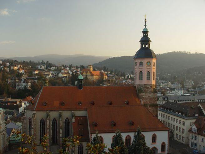 Black Forest Torte (Schwarzwaelder Kirschtorte) - Stiftskirche, Baden Baden, Black Forest