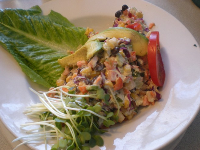 Lunch at Harry's Roadhouse in Santa Fe, NM - Southwest Salad
