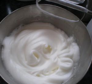 Black Forest Torte (Schwarzwaelder Kirschtorte) - Whipped Egg Whites