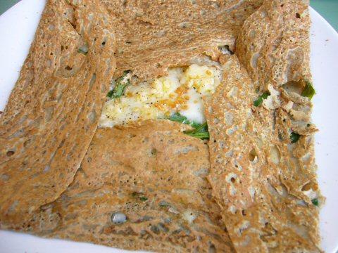 Chestnut Flour Crepes - Savory Galette by kichijoji