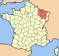 Quiche Fritatta - Map of Lorraine