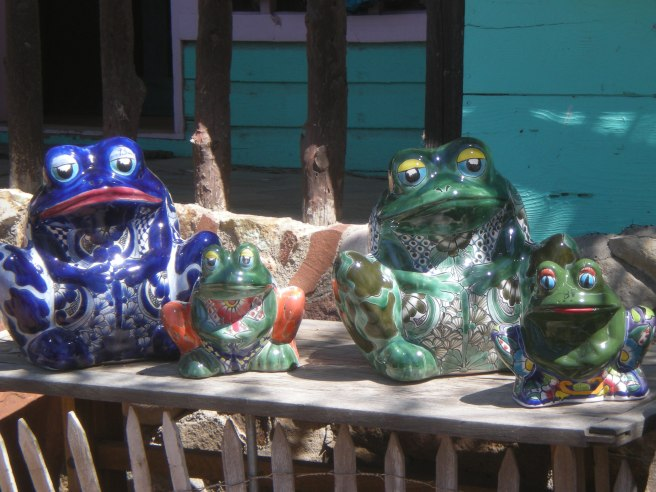 Madrid, NM: A Ghost Town Reborn - Frogs Guarding The Ghost Town Trading Post