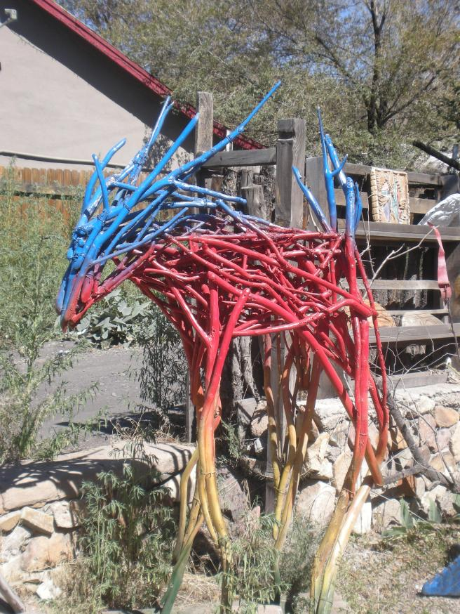 Madrid, NM: A Ghost Town Reborn - Art Sculpture