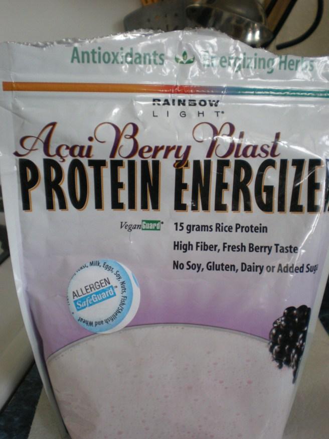 Acai Pear Banana Protein Smoothie - Rainbow Light Acai Rice Protein