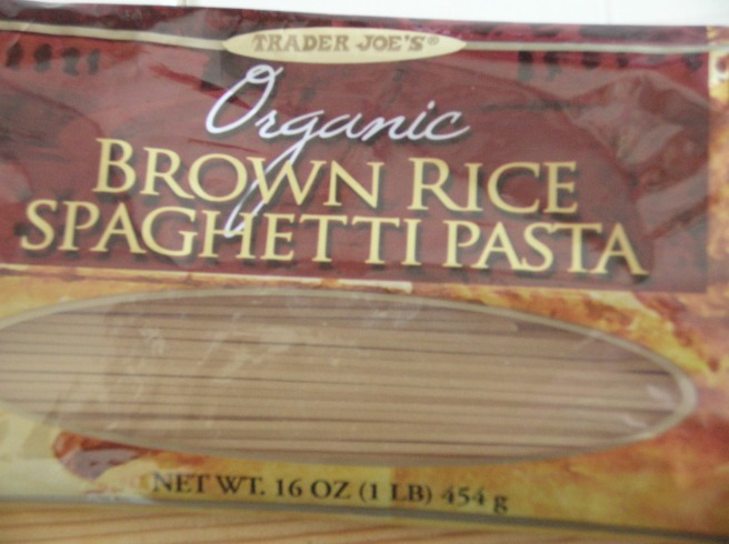 Mediterranean-style Rice Pasta - Trader Joe's Brown Rice Spaghetti