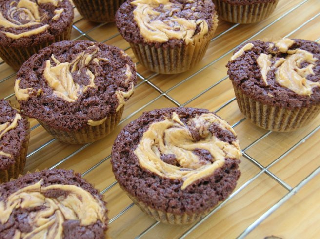Chocolate Peanut Butter Fudge Cupcakes - Gluten Free