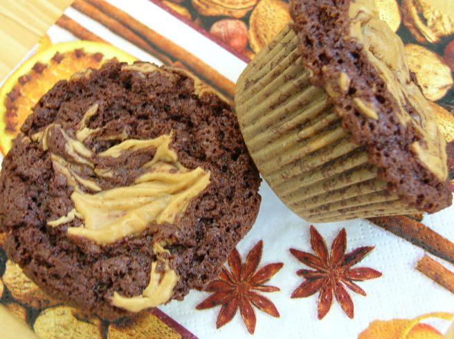 Chocolate Peanut Butter Fudge Cupcakes - Gluten Free