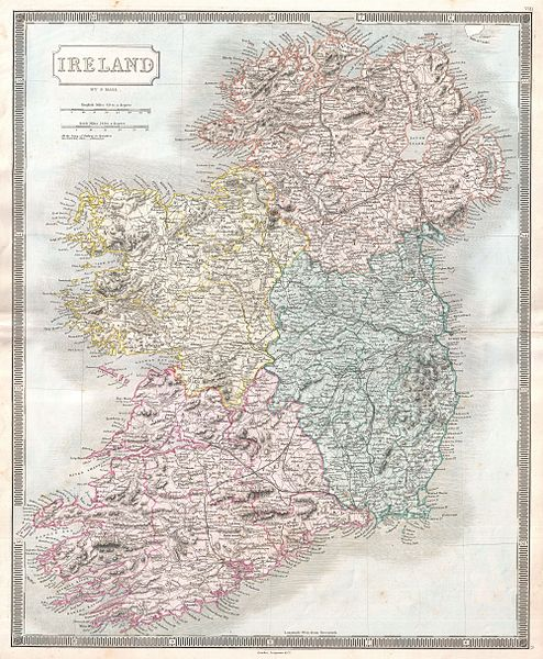 Champ - 1850 Hall Map of Ireland