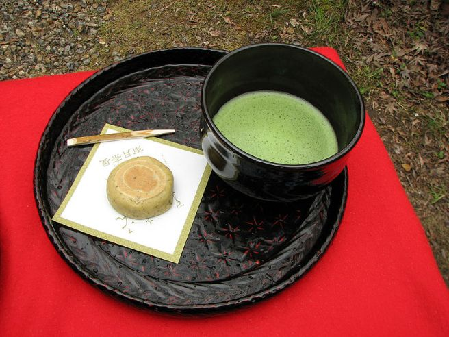Japanese Tea Ceremony - Matcha and wagashi