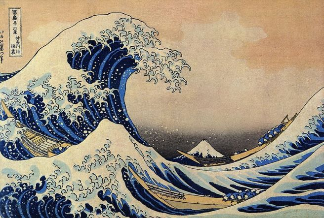 Mochi - Japanese Food Culture - Great Wave at Kanagawa by Katsushika Hokusai