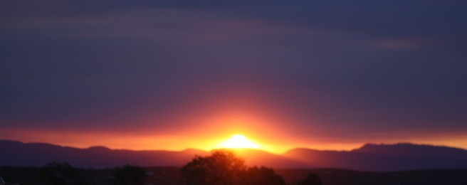 New Mexico in Bloom - Sunset - Smoke from 2012 Wildfires