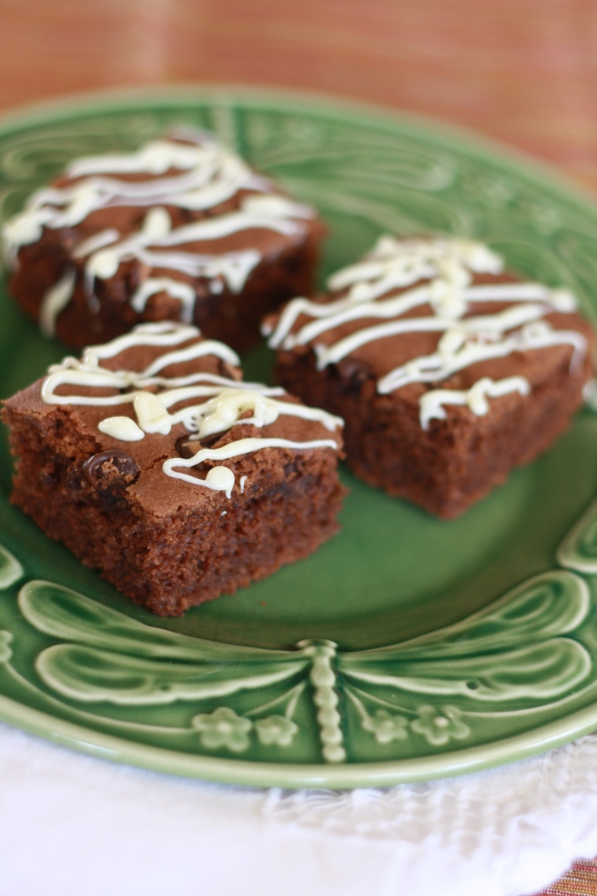 Brownies with a Hint of Matcha - A delicious gluten free variation