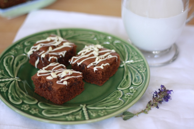 Brownies with a Hint of Matcha - A gluten free variation