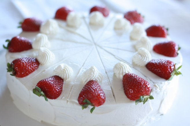 French Strawberry Cake - A delicious gluten free variation