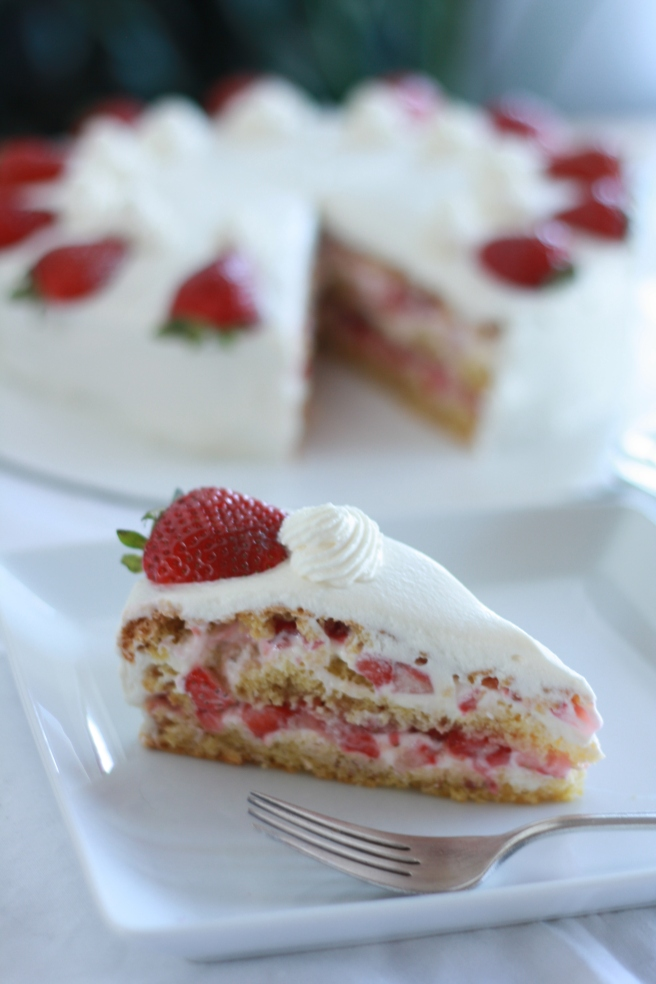 French Strawberry Cake - A gluten free variation