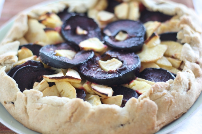 Apple-Plum Galette - A gluten free alternative