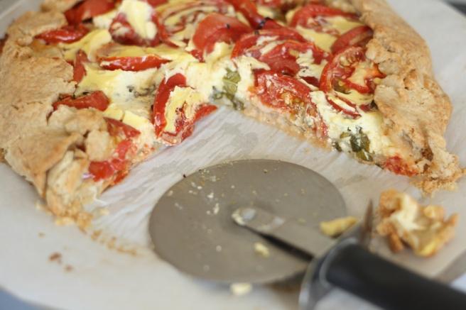Savory Tomato-Herb Galette - A gluten free alternative
