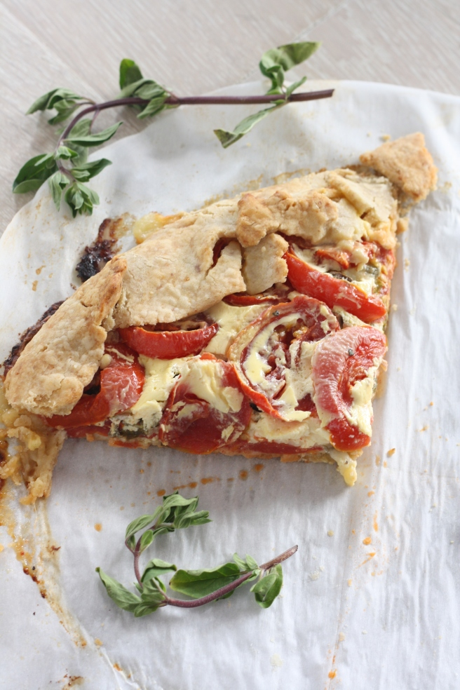 Savory Tomato-Herb Galette - A delicious gluten free alternative