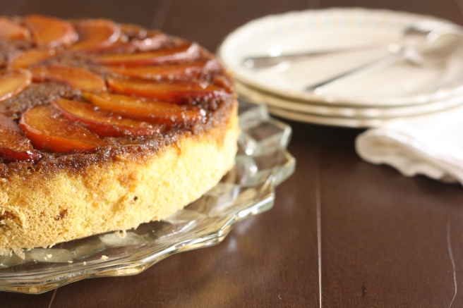 Nectarine Upside-down Chiffon Cake - A gluten free alternative