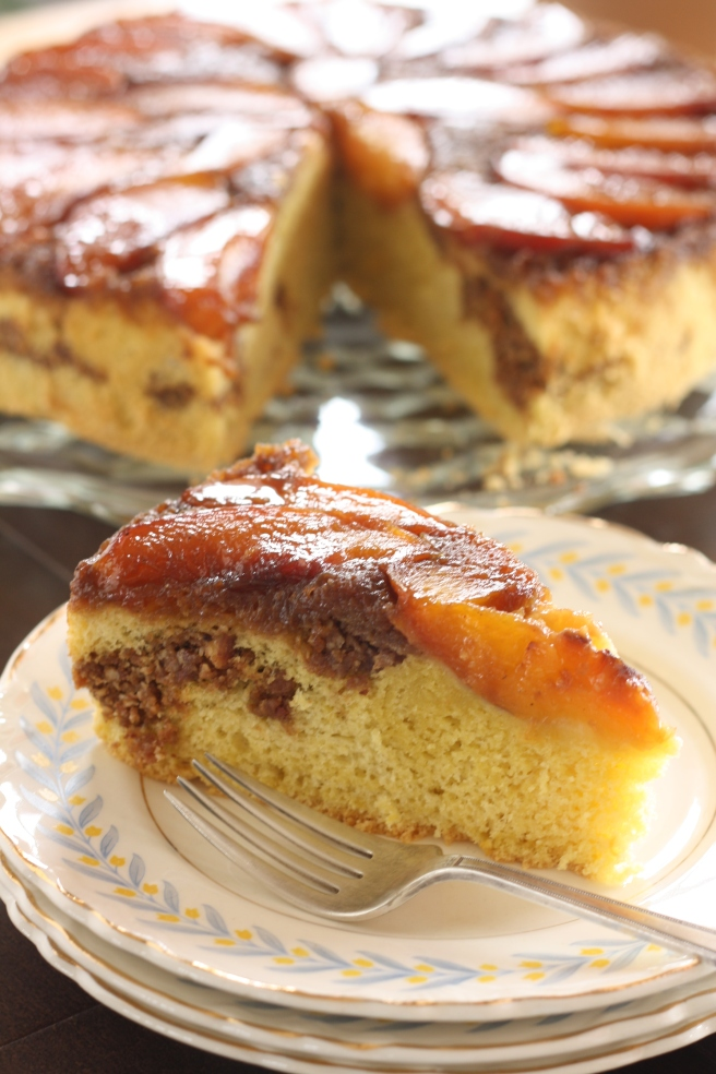 Nectarine Upside-down Chiffon Cake - A delicious gluten free option