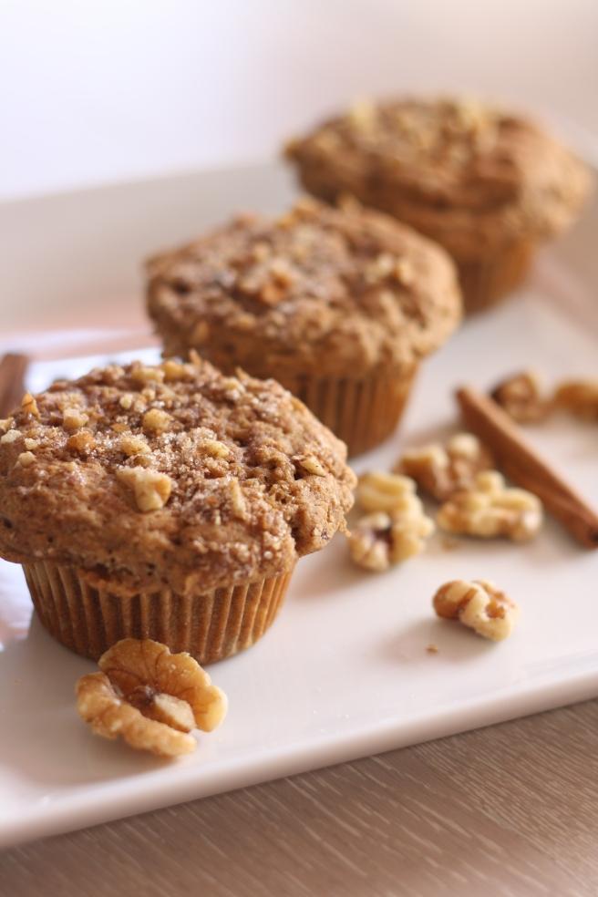 Cinnamon Banana Nut Muffins