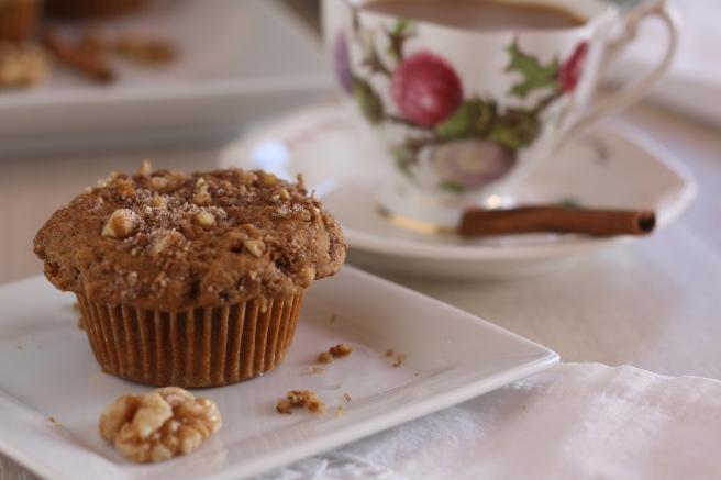 Cinnamon-Banana-Niut Muffins