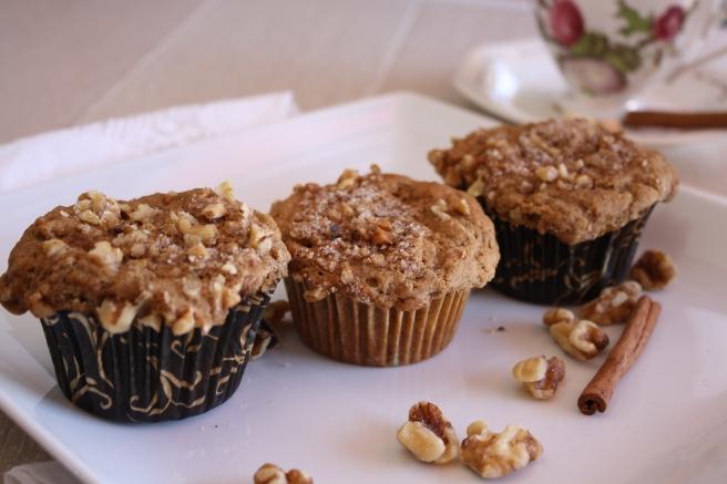 Cinnamon-Banana-Nut Muffins