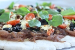 Pizza with Onion Confit, copyright 2013, gfcelebration.com, All rights reserved