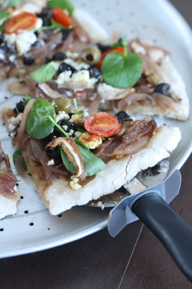 Pizza with Onion Confit