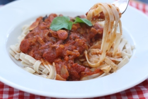 Shiitake Pasta Sauce, copyright 2013, gfcelebration.com, All rights reserved