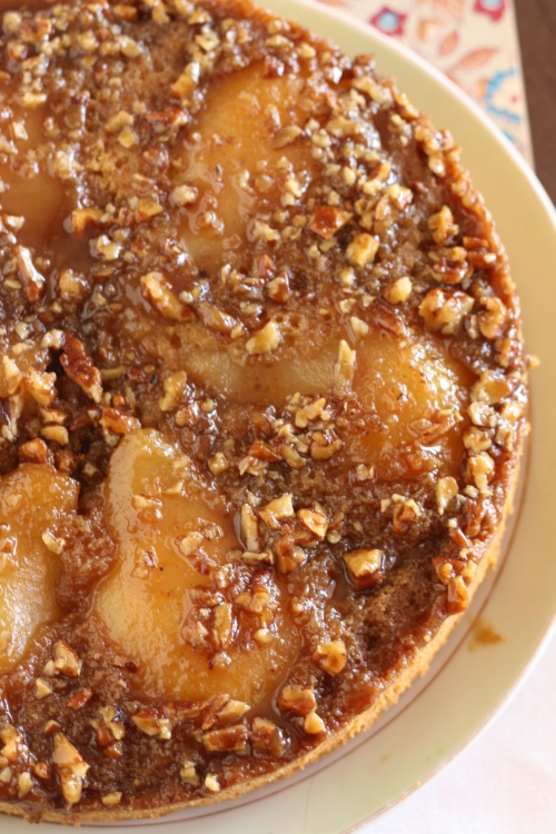 Fresh Pear Upside-down Cake, copyright 2013, gfcelebration.com All rights reserved.
