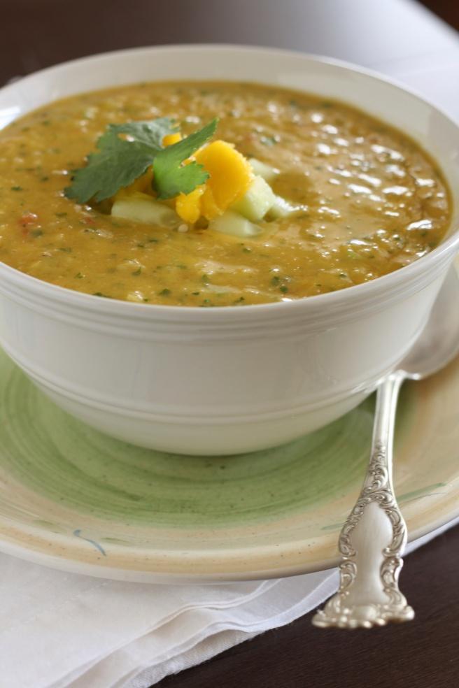 Tropical Fruit Gazpacho - A refreshing Summer soup