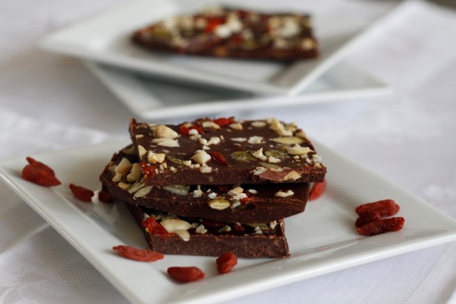 Red and Green Chocolate Bark, copyright 2015, gfcelebration.com, All rights reserved