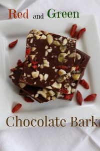 Red and Green Chocolate Bark